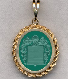 #87 with Green Onyx for Chain
