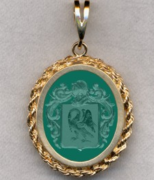 #87 with Green Onyx for Coin