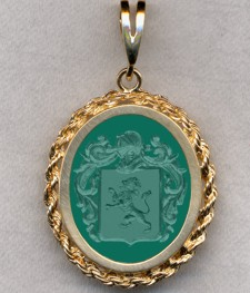 #87 with Green Onyx for Kupferschmied