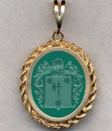 #87 with Green Onyx for Morse
