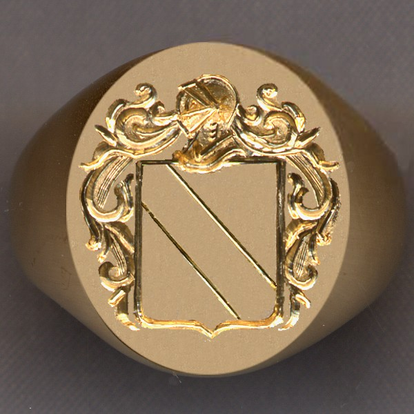 How a ring would look with a shield divided by a bend.