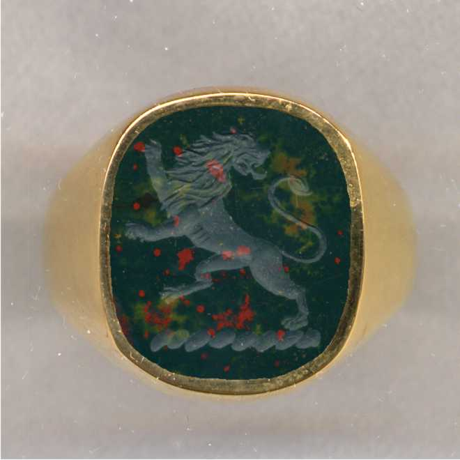 Bloodstone Crest Ring