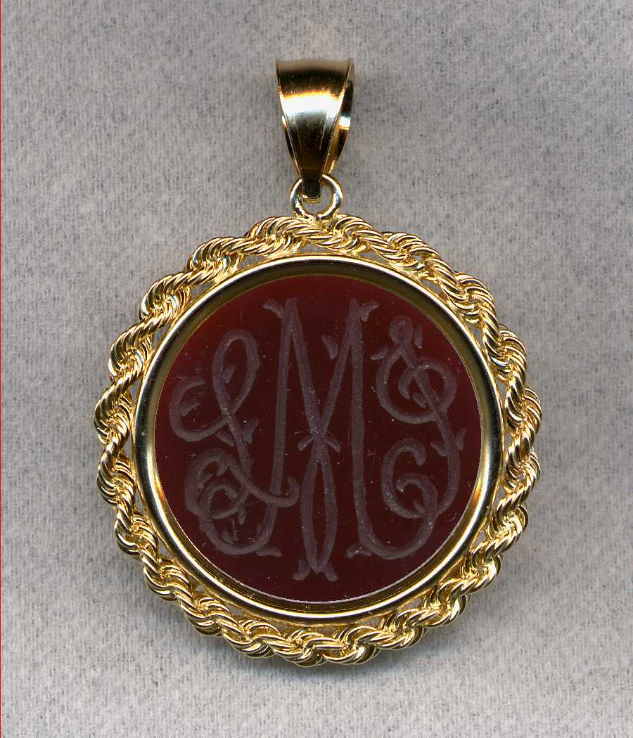 #722 Pendant With Monogram