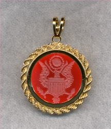 Great Seal of the United States Stone Pendant by Heraldica Imports