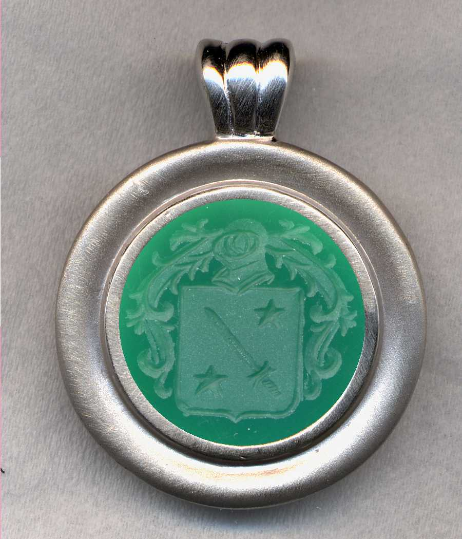 #76 Silver and Green Onyx Pendant